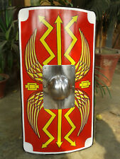 Armour Shield Fully Functional Medieval Roman Scutum Red For Battle | Helloween