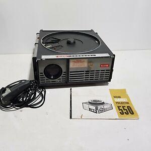 Kodak Carousel Slide Projector Model 550 w/ Remote + Manual