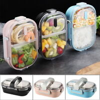 Stainless Thermo Insulated Thermal Picnic Food Container Bento Lunch Box
