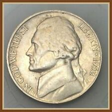 "1952 S Jefferson Nickel Average Circulation ""Stock Photo"""