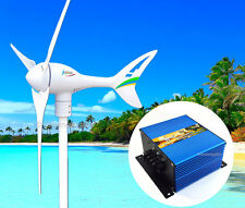 Apollo 12 V DC MAX 550 W Magnet Wind Turbine Generator 3Blade +Charge Controller