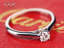 CARTIER 1895 SOLITAIRE RING PLATIN 0,19ct. DIAMANT BRILLANT 950 PLATINUM DIAMOND
