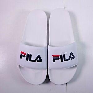 FILA Men's Drifter Slide Sandals White/Navy/Red