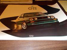1991 Volkswagen GTI 20-page Deluxe Sales Catalog