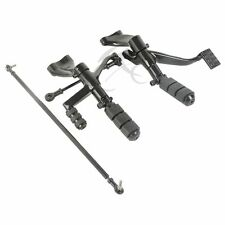 Black Forward Controls Complete Peg Levers Linkages For Harley Sportster 1200 XL