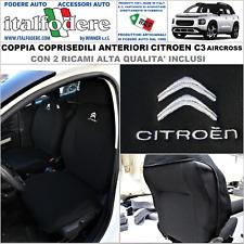 Coprisedili Anteriori C3 Versione compatibili con sedili con airbag con Fori per i poggiatesta e bracciolo Laterale 2017 - in Poi