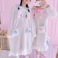 Cute Cinnamoroll My Melody Dress Plush Pajamas Nightgown Homewear Sleepwear