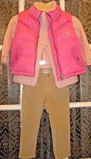 H&M~Hello Kitty~Complete outfit~Toddler Girl 2T~Puffer Vest~CorduroyPants~Pink