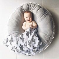 Soft Cotton Round Padded Baby Activity Mat Crawling Blanket Rug Playmat Cushion