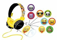 Emoji Over Ear Headphones Kids Childrens Earphones for iPad Tablet iPhone 3.5mm