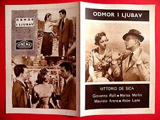 TIME OF VACATION 1956 VITTORIO DE SICA MARISA MERLINI RALLI EXYU MOVIE PROGRAM