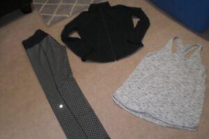 Lot of Rare Lululemon Skinny Groove Pants, Shape Jacket and Tank sz 12