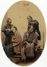 Japanese Barbers 1850 Japan Felice A Beato 7x5 Inch Reprint Photo Samurai?