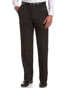 Mens Self Adjusting Waist Band Trousers Flexible Stretch Expandable Pants Slack