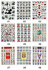 #SAA6 Shiny Panda Cartoon Animal Craft Card Kids Children Stickers