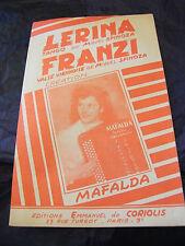 Partitura Lérina Miguel Spinoza Franzi Mafalda Music Sheet