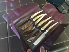 Vintage Mid Century Brown & Bigelow Stag 6  Knife Set (Solingen- Germany)