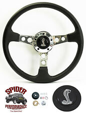 """1974-1977 Mustang 2 steering wheel COBRA 14"""" LEATHER"""