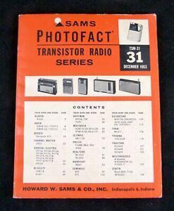 SAMS PHOTOFACT Transistor Radio Series TSM-31 1963 Specs Diagrams Repair GE etc.