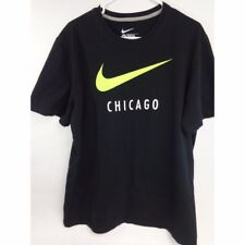 "Nike Regular fit 100% cotton tee shirt with Nike Swoosh and ""Chicago"" logos XL"