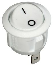 Interrupteur commutateur contacteur bouton à bascule blanc SPST OFF-(ON) 6A/250V