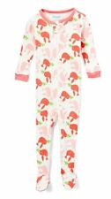 Elowel Baby Girls Footed Pink Bir