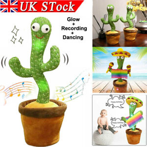 Dancing Cactus Plush Toy Electronic Shake with Song Recording Funny Toys Gifts