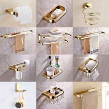 Gold Color Brass Bathroom Accessories Set Bath Hardware Towel Bar sset001 B