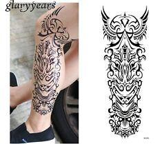BRACCIO COMPLETO BRACCIO Ali Tribali adesivi per tatuaggi temporanei Body Art 3D Tatuaggi IMPERMEABILE