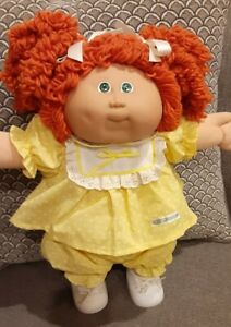 Vintage Cabbage Patch Doll HM 14 Double Red Popcorn pony KT Green Eyes