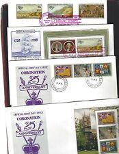 Niue sc#214-18,221a-c #218a,221d Souvenir Sheets (1978) FDC's