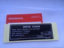 Genuine Honda XR70 CRF70 Drivetrain Adjustment Decal