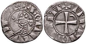 CRUSADERS (1163-1188 AD) Bohemond AR Denier. Antioch #CR 8155