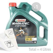 Car Engine Oil Service Kit / Pack 4 LITRES Castrol Magnatec 5W-30 C3 4L