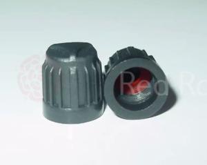 Black Plastic Tyre Valve Caps Set TPMS Safe Pressure Sensor Ford BMW