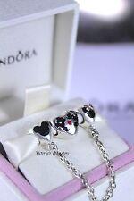 Pandora Disney Mickey&Minnie Hearts Safety Chain + Mickey&Minnie Kissing Charm
