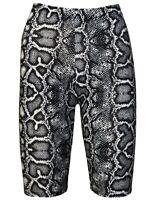 Women's Monochrome Snake Skin Python Printed Cycling Cycle Shorts Gym Yoga Trend