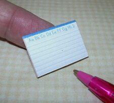 Miniature Lined Handwriting Penmanship Pad of Paper: DOLLHOUSE School 1/12