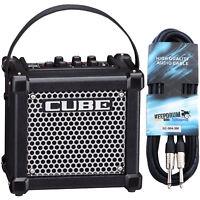 Roland Micro Cube GX Gitarrenverstärker schwarz + Kabel