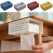 Self Adhesive Tissue Paper Box Holder Plastic Wall Mounted Bathroom Durable Red