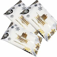 1000 x Large MAJESTIC Wet Hand Wipes Towels Lemon Scented Luxury Soft Napkins