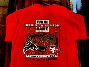 San Francisco 49ers Candlestick Park Thanks for Memories RARE Final Game T Shirt