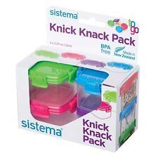 4 X Sistema To Go Knick Knack Paquet Mini 62 ML Pot Rangement Nourriture