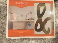 New Opalhouse Christmas Holiday Garland Banner Peace & Joy Gold Metal 6 ft Long