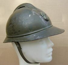 Rare WWI M15 French Adrian helmet 1915 used in Serbia, Bulgaria Firefighter