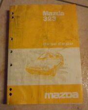 MAZDA 323 manuel d'atelier revue technique 08 - 1985 en français