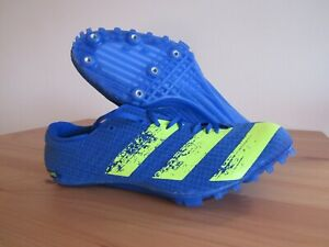 Adidas Adizero Finesse Blue Yellow Track & Field Men's 9.5 Spikes Shoes H68746