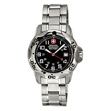 Men`s Titanium Wenger Swiss Army Mountaineer  Watch Black Dial  72617 bracelet