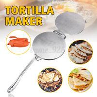 20cm Tortilla Maker Press Tool Heavy Duty Restaurant Aluminium  Kitcken Dough AU