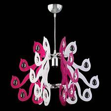 Lampadario In Cristallo E Plexiglass Colorato Sospensione Design Moderno 3MISURE